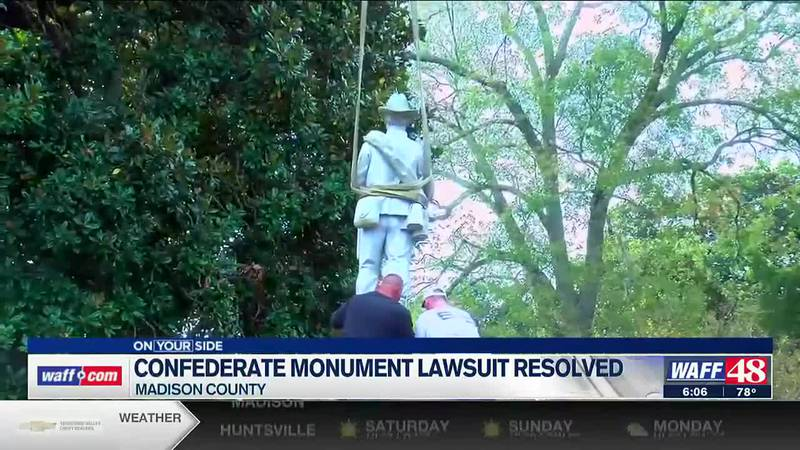 Confederate monument lawsuit resolved