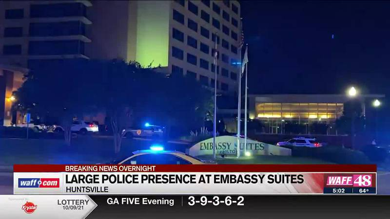 Large police presence at Embassy Suites overnight