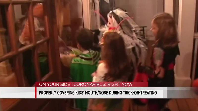 Properly covering kids' mouth/nose during trick-or-treating