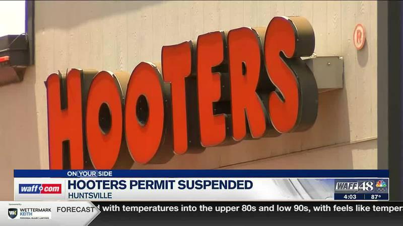 Huntsville Hooters permit suspended