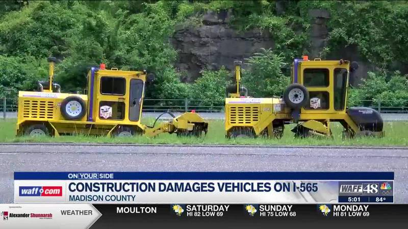 Construction on I-565 continues to cause damage to drivers' vehicles