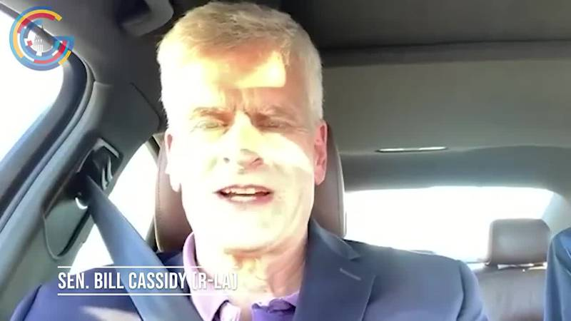 Sen. Bill Cassidy (R-LA) reacts to bipartisan infrastructure deal