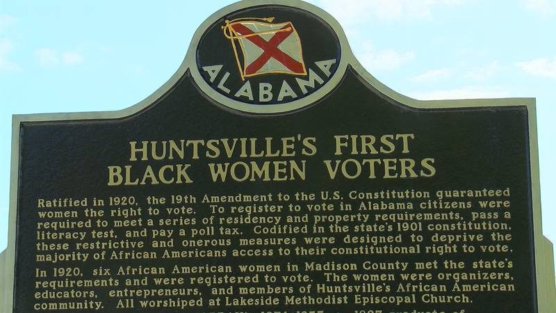 Although the dedication ceremony is a couple days away, the historic marker is already up.