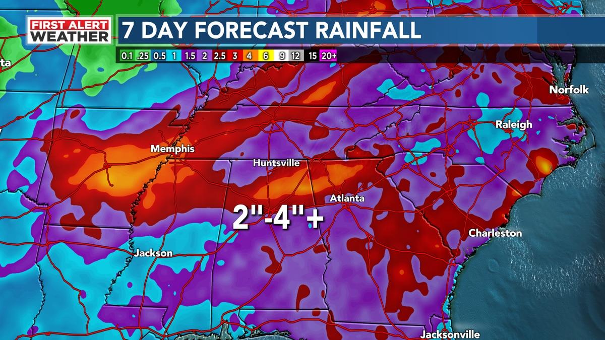 WAFF Weather Rainfall