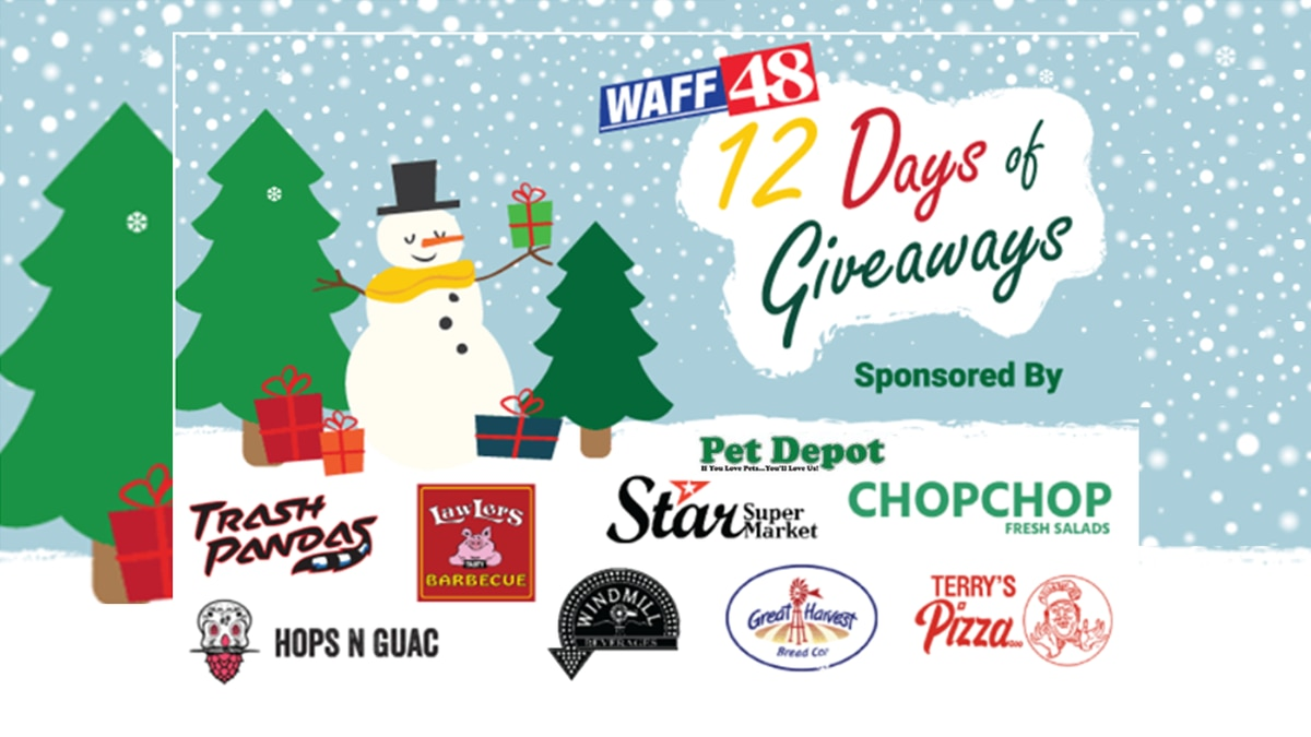 WAFF's 12 Days of Giveaways