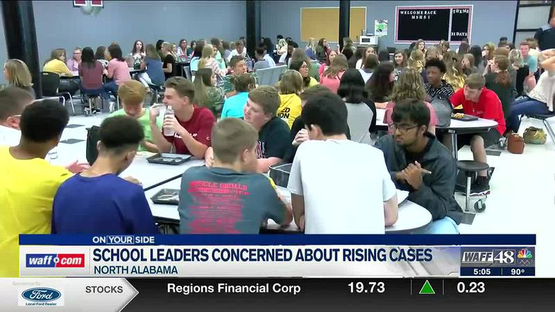 North Alabama school leaders concerned about rising COVID cases