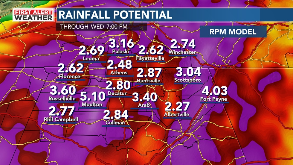 Rainfall from Ida will be heavy. Here is a look at potential rainfall through Wednesday. Some...