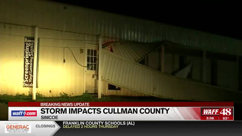 Aftermath of Wednesday's First Alert in Cullman County