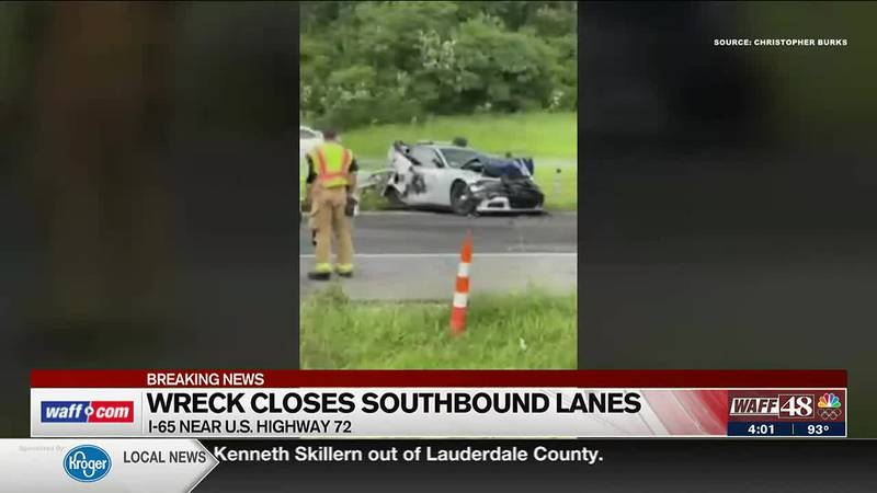 Alabama State Trooper involved in I-65 wreck in Limestone County