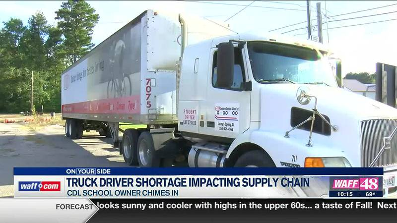 Truck driver shortage impacting supply change