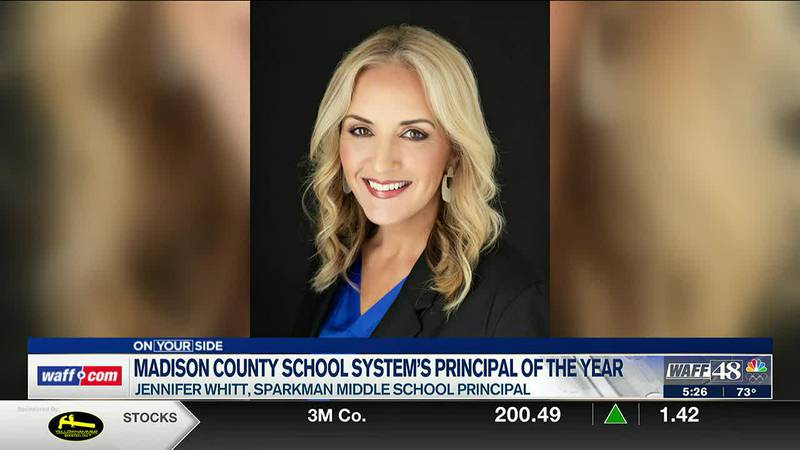 Sparkman Middle School Principal Selected as MCSS Principal of the Year