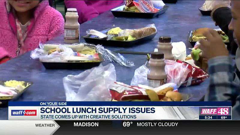 School lunches impacted by supply chain issues