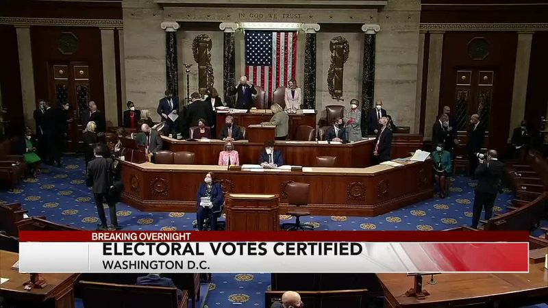 Electoral votes are now certified in favor of Joe Biden