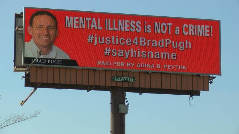 Brad's mother put up a billboard at the intersection of Bob Wallace and Memorial Parkway.
