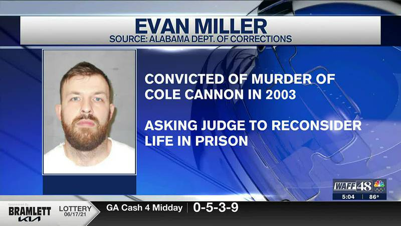 A new sentence and trial was requested for Evan Miller's Lawrence County murder case