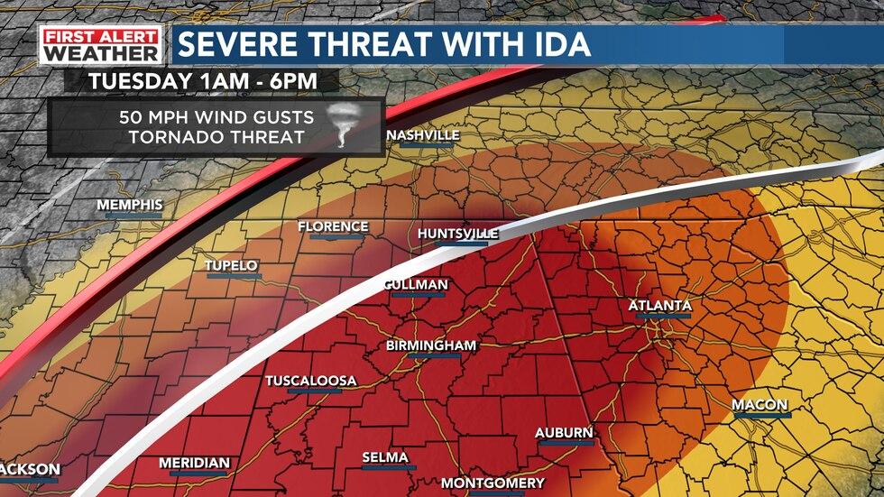 Ida Threat Areas