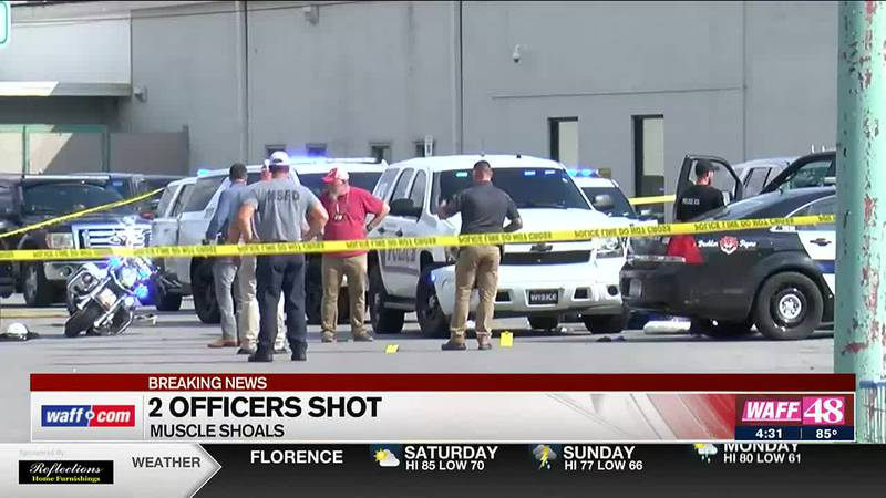 2 officers shot in Muscle Shoals