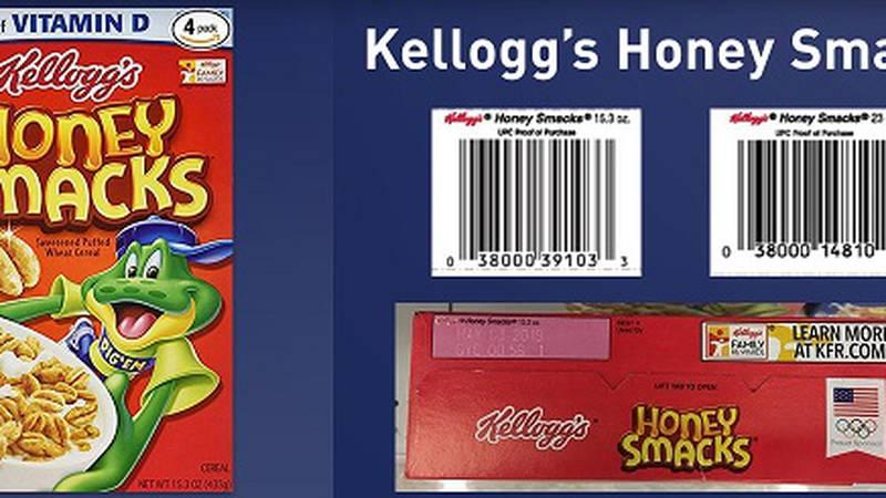 Kellogg's Honey Smacks (Source: FDA)