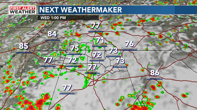 Better chance at storms all day today with higher humidity