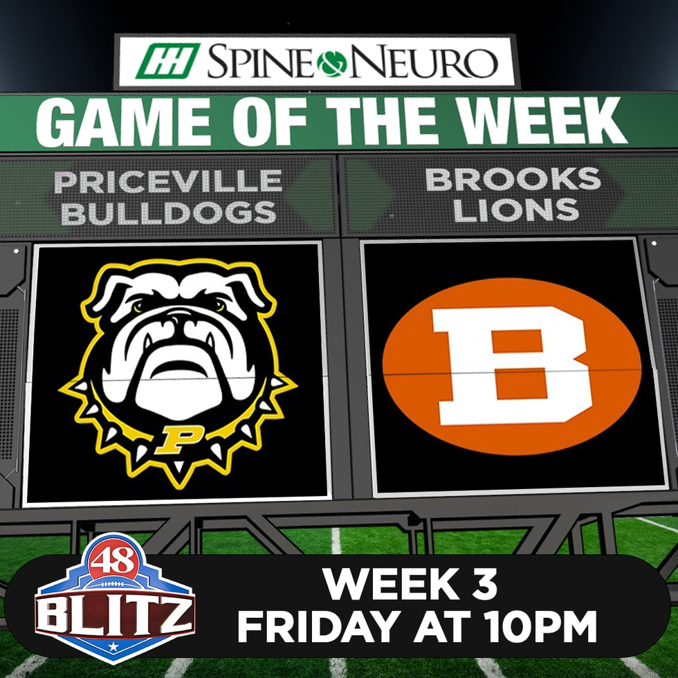48 Blitz Game of the Week - Week 3 - Priceville Bulldogs at Brooks Lions