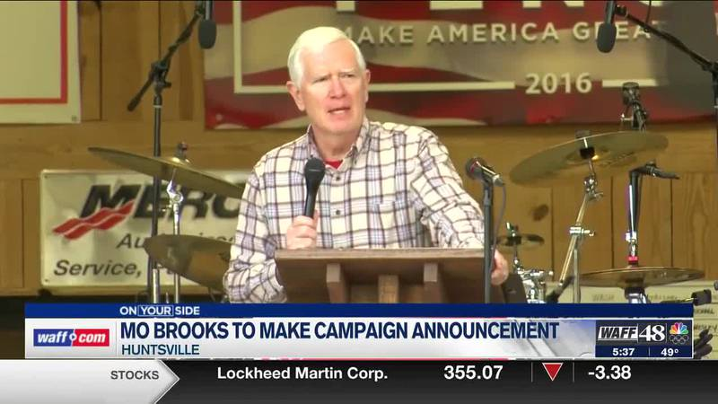 Mo Brooks to make campaign announcement on Monday