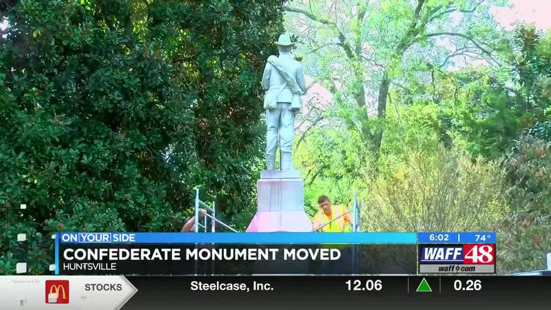 Madison County confederate monument relocated