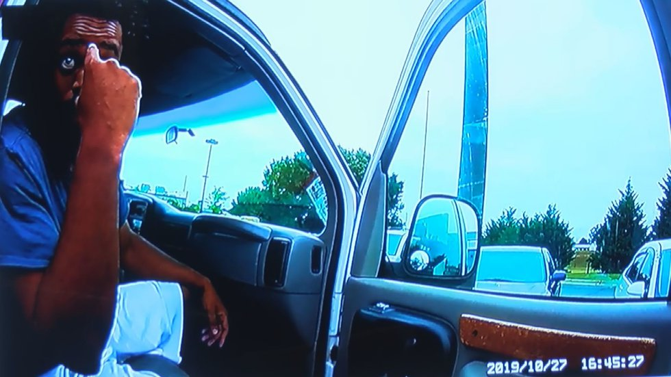 Screenshots from the shooting death of Dana Fletcher