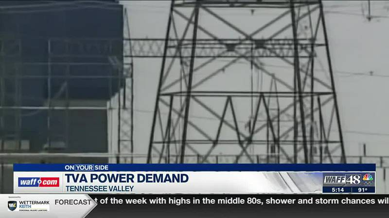 TVA power demand in Tennessee Valley