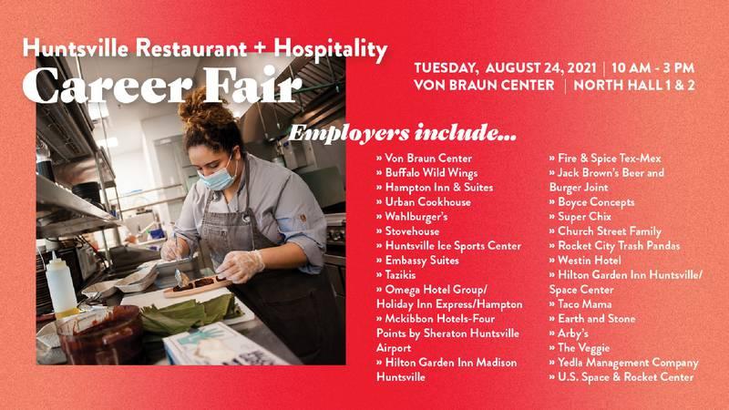 Huntsville Restaurant and Hospitality Career Fair