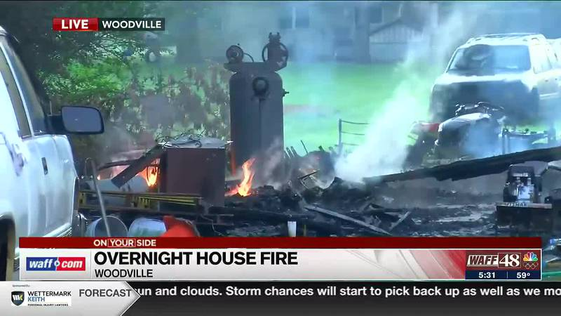 Overnight house fire in Woodville