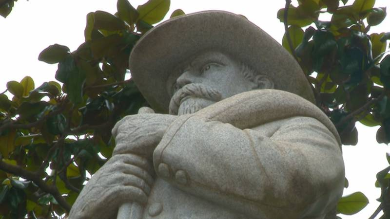 Confederate Statue outside of Madison County Courthouse