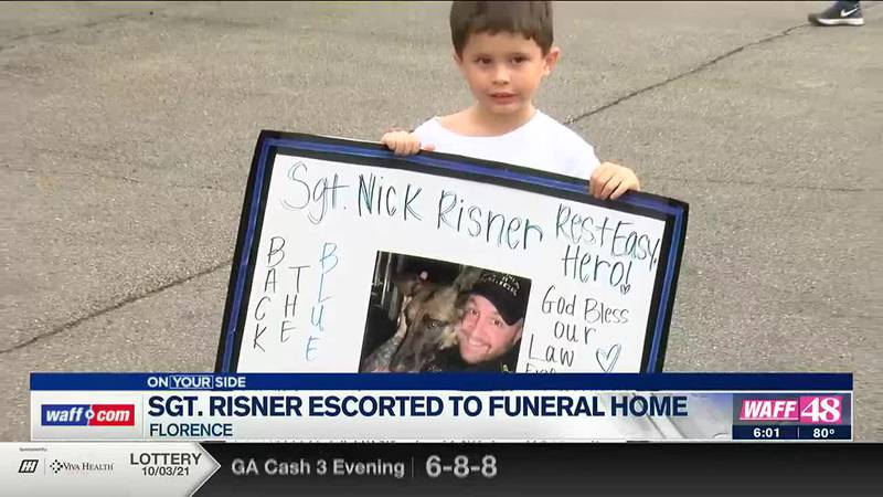Sgt. Risner escorted to funeral home