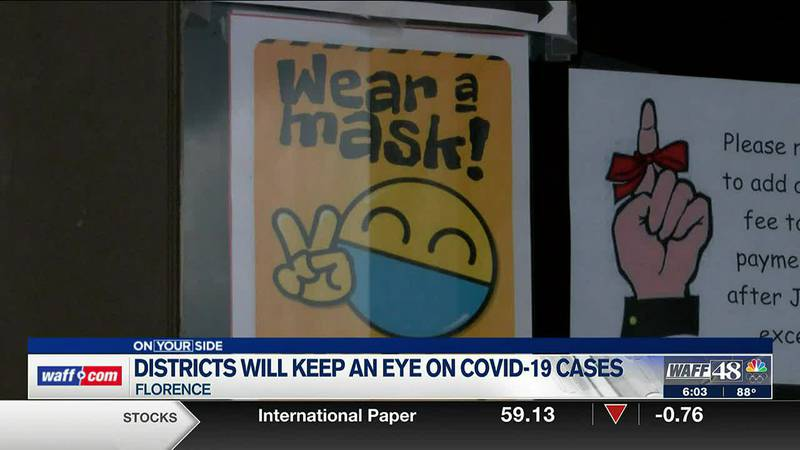 School districts keeping an eye on COVID-19 cases