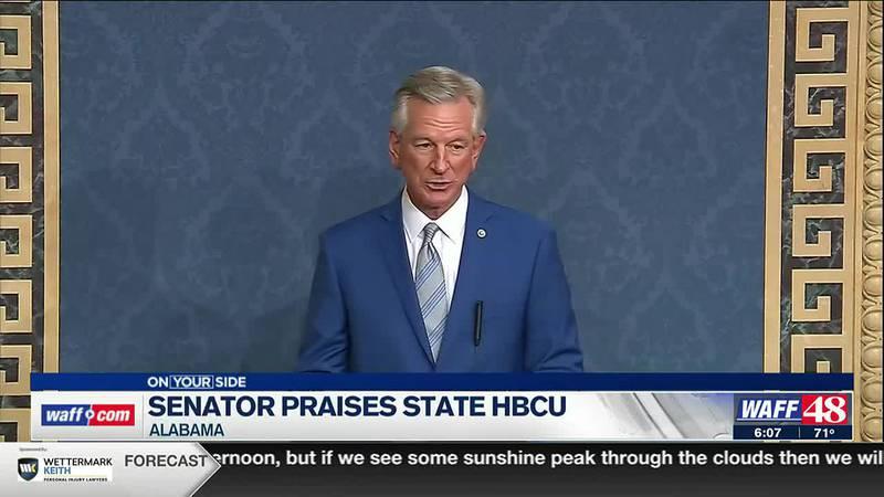 Senator Tommy Tuberville praises HBCUs.