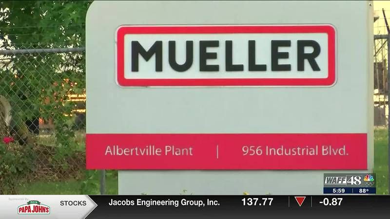 Mueller Water Products donating over $100,000 to victims, families involved in Albertville...