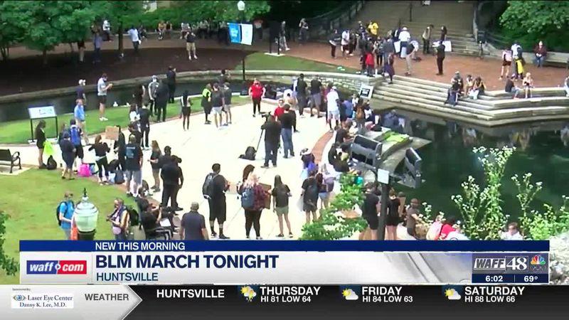 BLM march in Huntsville on Thursday