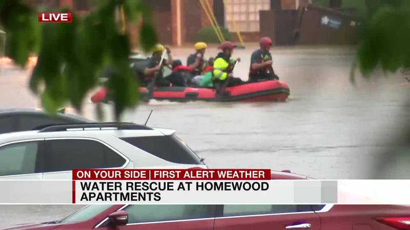 Water rescue at Homewood apartments