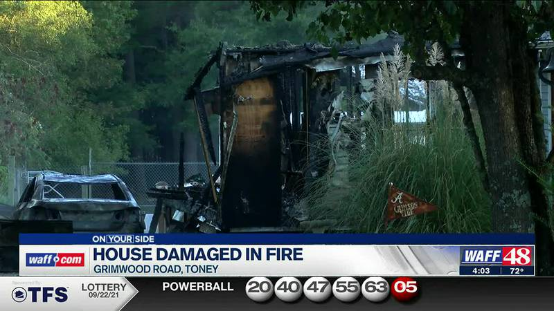 House damaged in fire in Toney