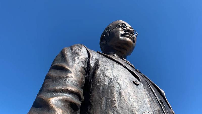 Statue in downtown Huntsville