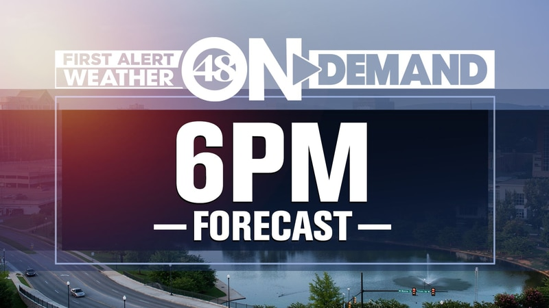 WAFF 48 Weather Forecasts at 6 p.m.
