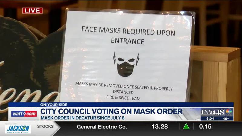 Decatur City Council looking at mask order