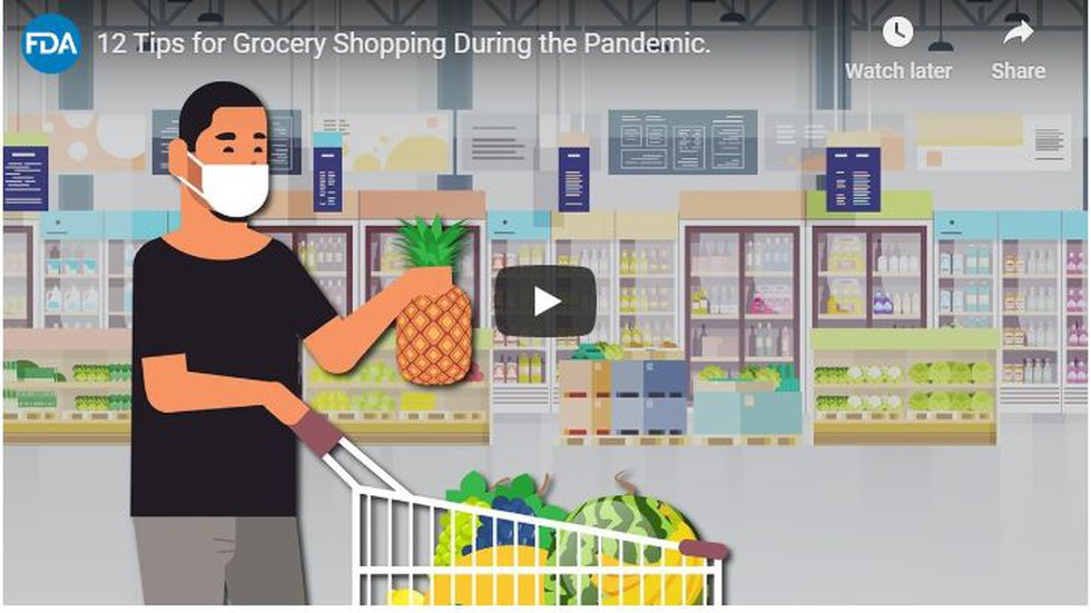 FDA tips for grocery shopping