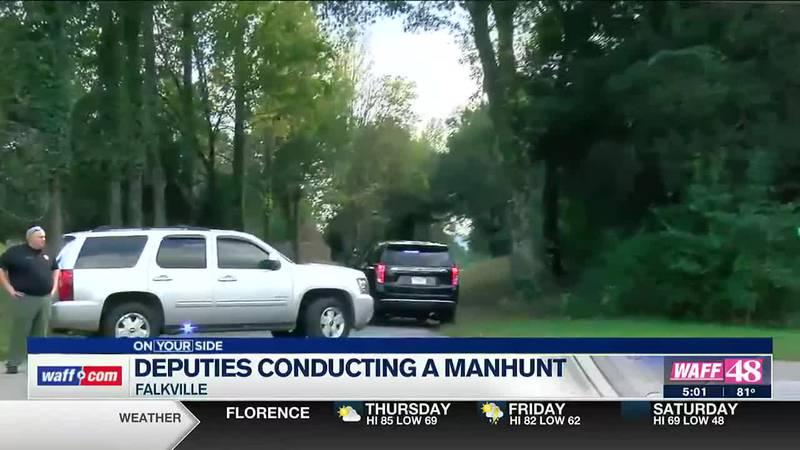 Deputies conducting a manhunt in Morgan County