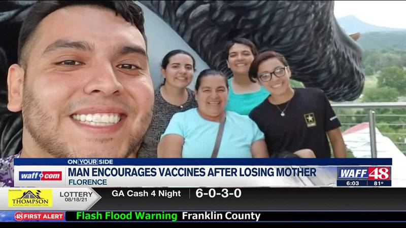 Florence man encourages vaccine after losing his mother to COVID-19