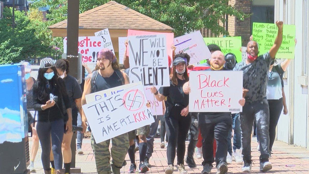 Peaceful protest in Huntsville