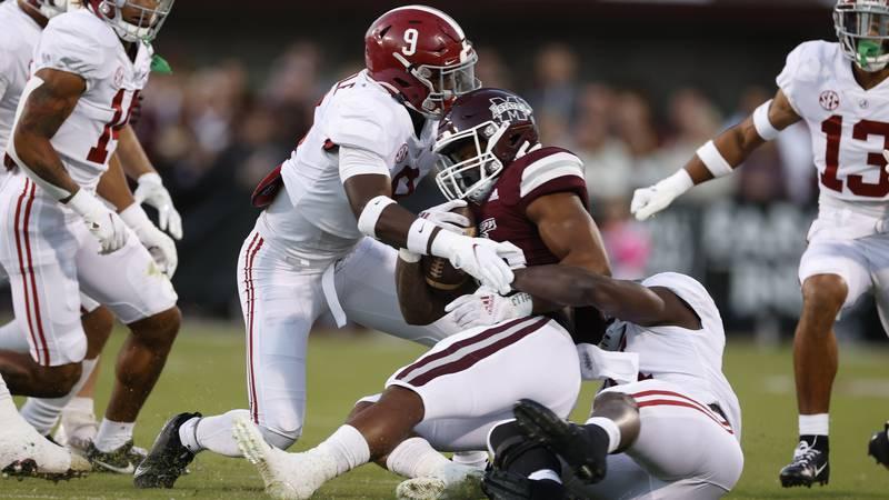 Alabama defeats Mississippi State, 49-9