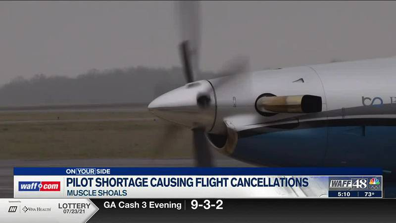 Pilot shortage in Muscle Shoals cause flight cancellations