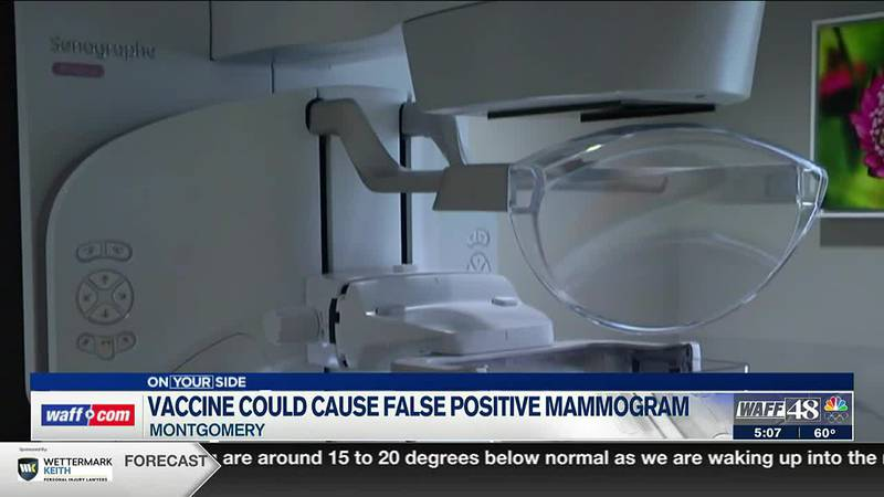 Vaccine could cause false positive on mammograms
