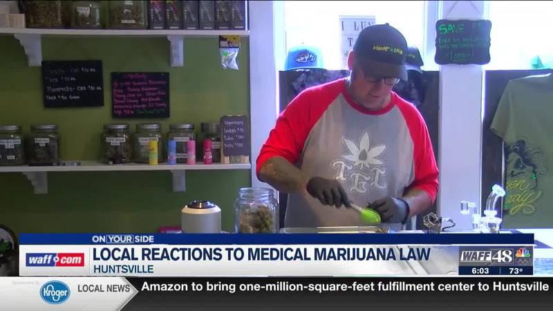 Locals in Huntsville react to the recent passing of the Medical Marijuana bill