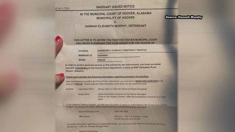 A woman living near Washington, D.C. says she got an arrest warrant in relation to a local...